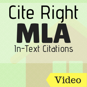 Video: Cite Right: MLA In-Text Citations