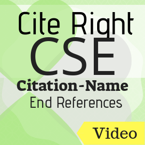 Video: Cite Right: CSE (Citation-Name) End References
