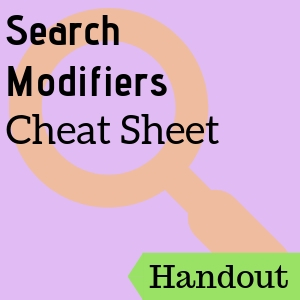 Search Modifiers Cheat Sheet