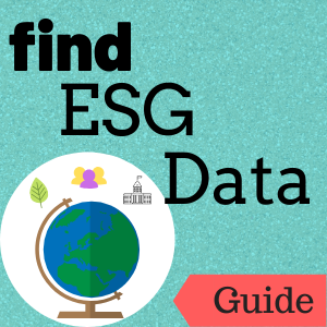 Link to guide: Find ESG Data