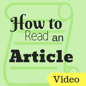 How to Read an Article