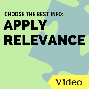 Choose the Best Info: Apply Relevance