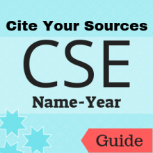 Guide: Cite Your Sources: CSE (Name-Year)