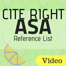 Video: Cite Right ASA Reference List