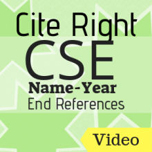 Video: Cite Right:CSE (Name-Year) End References