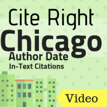 Video: Cite Right Chicago Author-Date In-Text Citations