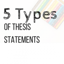5 Types of Thesis Statements