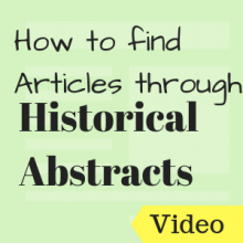 How to Find Articles through Historical Abstracts