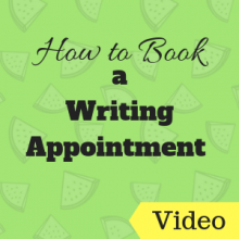 How to book a Writing Appointment
