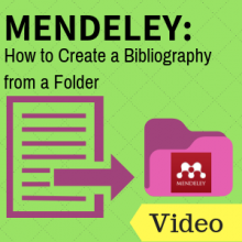 Mendeley: How to Create a Bibliography from a Folder