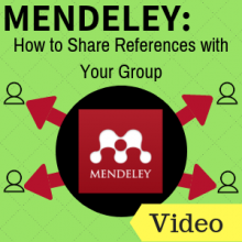 Mendeley: How to Share References with Your Group