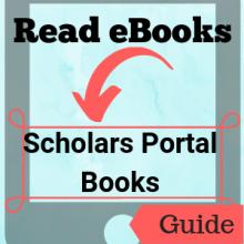 Guide: Read eBooks: Scholars Portal Books
