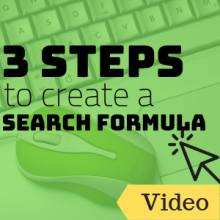 3 Steps to Create a Search Formula