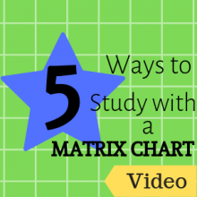 5 Ways to Study with a Matrix Chart