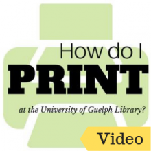 How do I Print at the University of Guelph Library?