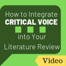 Video: How to Integrate Critical Voice into Your Literature Review