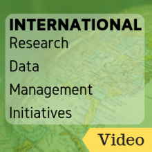 Video: International Research Data Management Initiatives