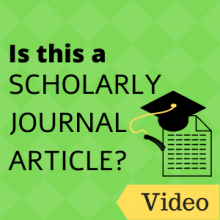 Video: Is this a scholarly journal article?