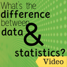 Link to video: What's the difference between data and statistics?